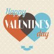 Royalty-Free Stock Векторное изображение: Vintage Valentines Day type text calligraphic background.