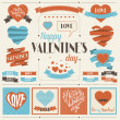 Royalty-Free Stock Vectorielle: Collection of labels and ribbons in retro vintage style.