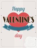 Fondo de texto de vendimia caligráficos tipo día de san valentín. — Vector de stock
