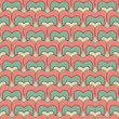 Seamless retro pattern of Valentine's hearts on paper texture. — Stock Photo