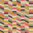 Seamless retro geometric pattern on paper texture. - Foto Stock