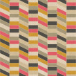Seamless retro geometric pattern on paper texture. - Stock Photo