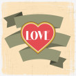 Vintage Valentines Day greeting card. — Stock Vector