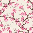 Cherry blossom seamless flowers pattern. — Stock Vector