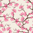 Cherry blossom seamless flowers pattern. — Stock Vector #18617955