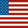 American flag background made with embroidery cross-stitch. — Imagens vectoriais em stock