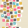 Social network background of SEO internet icons. - Stock vektor