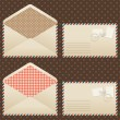Collection of old  vintage envelopes. — Stock Vector