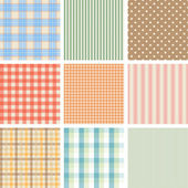 Set of 9 seamless abstract retro pattern. — Stock Vector