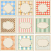 Vintage patterned card templates set. — Stock Vector