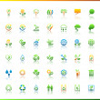 Collection eco web icons. — Vecteur