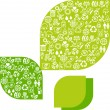 Abstract background of eco web icons. - Stockvectorbeeld