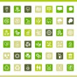 Collection eco web icons. - Stockvectorbeeld