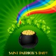 Greeting card for Saint Patrick's day. - Stok Vektör