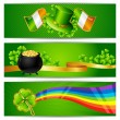Stock Vector: Banners for Saint Patrick's day.