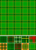 Tartan, plaid seamless 10 patterns. — Stock Vector