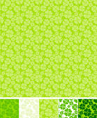 Collection of clover patterns, for Saint Patrick Day. — Stock Vector