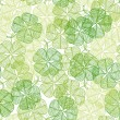 Seamless pattern with abstract clover leaves. — Stock Vector