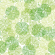 Seamless pattern with abstract clover leaves. - Векторная иллюстрация