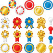 Blank award ribbon rosettes — Stock Vector