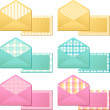 Vintage envelopes — Stock Vector