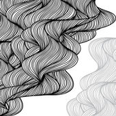 Hand-drawn waves background. — Stock Vector