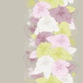 Elegance seamless pastel flower pattern. — Stock Vector