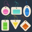 Set of color bubbles, stickers, labels, tags. - Stock Vector