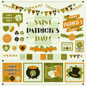 Collection design elements of Saint Patrick's Day. — Stockvector
