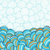 Seamless abstract wave hand-drawn pattern. — Stok Vektör