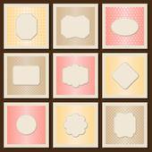 Vintage patterned cards templates set. — Stock Vector