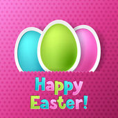 Happy Easter greeting card with eggs. — Stock Vector