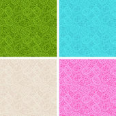 Happy Easter egg seamless patterns set. — Stock Vector
