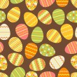 Happy Easter retro seamless pattern. — Stock Vector