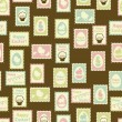 Happy Easter retro seamless pattern. - ベクター素材ストック