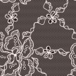 Lace fabric seamless pattern with abstact flowers. - Imagen vectorial