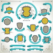 Vintage labels, shields and ribbons retro style set. — Stock Vector #21110111