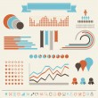 Vintage styled infographics elements. — Stock Vector