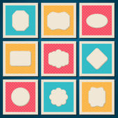 Vintage patterned cards templates set. — Stock Vector