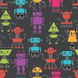 Royalty-Free Stock Vector Image: Cartoon robots seamless pattern.