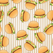 Fast food seamless pattern background. — Stock Vector