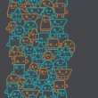 Cartoon robots seamless pattern. - Stok Vektör