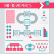 Royalty-Free Stock Imagen vectorial: Infographics elements collection. Set 3.