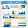 Royalty-Free Stock Imagen vectorial: Infographics elements collection. Set 4.