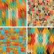 Seamless abstract geometric patterns set. — Stock Vector #22587405