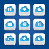 Collection of apps icons with clouds. — Stock Vector