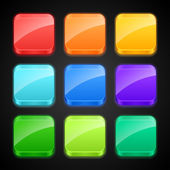 Set of luminous color apps icons. — Stock Vector