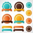 Set of vector labels, badges and ribbons. — Stock Vector #22818138