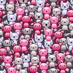 patrones sin fisuras con los gatos doodle lindo kawaii — Vector de stock