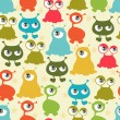 Abstract seamless pattern with cute monsters. - 图库矢量图片